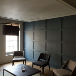 Wood panelled wall